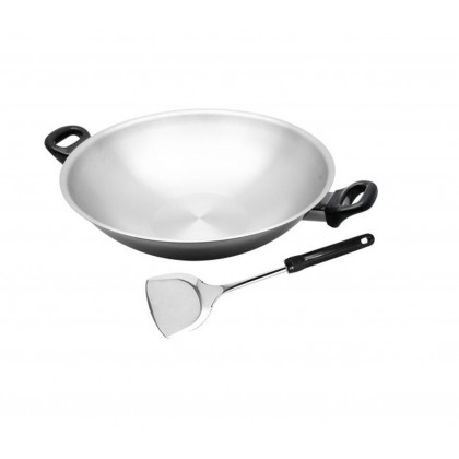 Zebra 36cm Vitalux 3 Ply Chinese Wok without Lid
